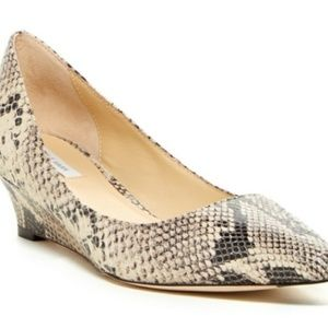 Cole Haan Bradshaw wedge pump snakeskin 8